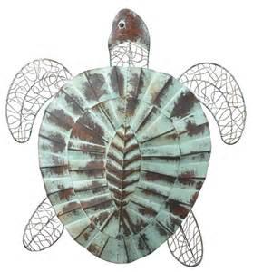 nautical coastal rustic sea turtle wall decor indoor - Outdoor Nautical Wall Decor