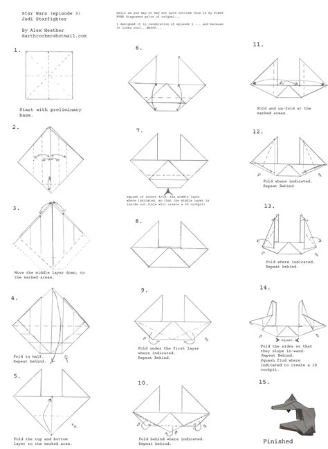 Easy Origami Wars - free origami diagrams learn how to make