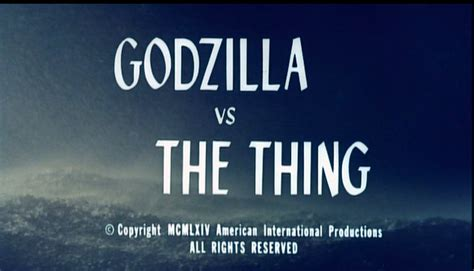 horror trailer talk the thing hdc movie chat godzilla versus the thing horror com