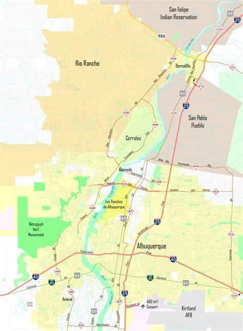 albuquerque map albuquerque aaroads
