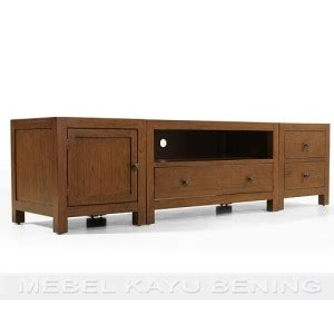 rak tv kayu jati model minimalis andalas mebel kayu