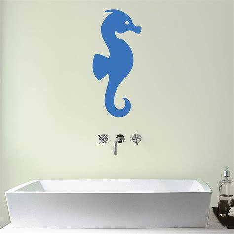 bathroom vinyl stickers seahorse bathroom vinyl wall sticker by mirrorin