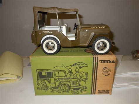 tonka army jeep tonka military jeep w box on ebay ewillys