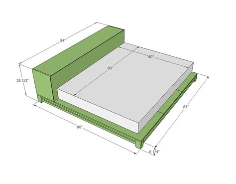 Platform Bed Frame Plans Bed Frame Adjustable Size Platform Of King A Mattress Bed Mattress Sale