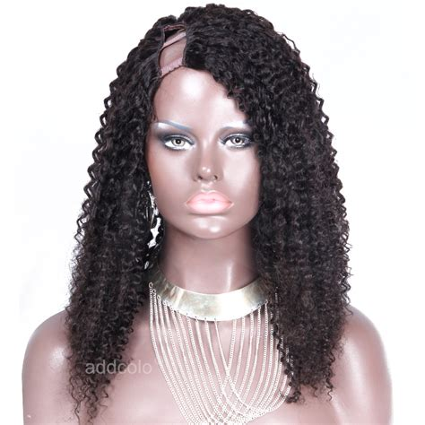 wigs for heavy women u part wig brazilian hair afro kinky curly wig natural color