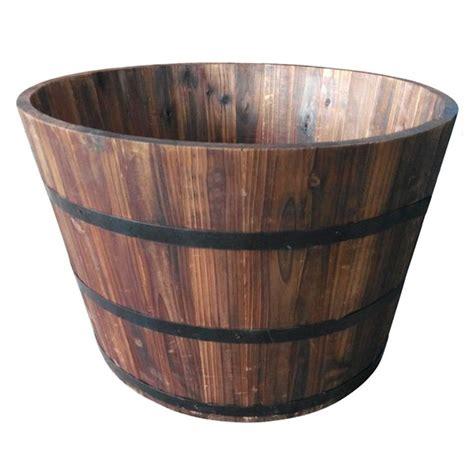 barrel planter with 3 pots resin water feature 28 best large pots images on large pots