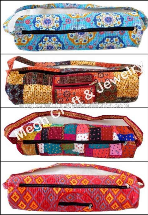 Mat With Bag India by Vintage Mat Bag India Bags Boho Hippie Kantha