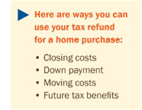 does buying a house help on taxes how your tax refund can help you buy a home buyers agent portland