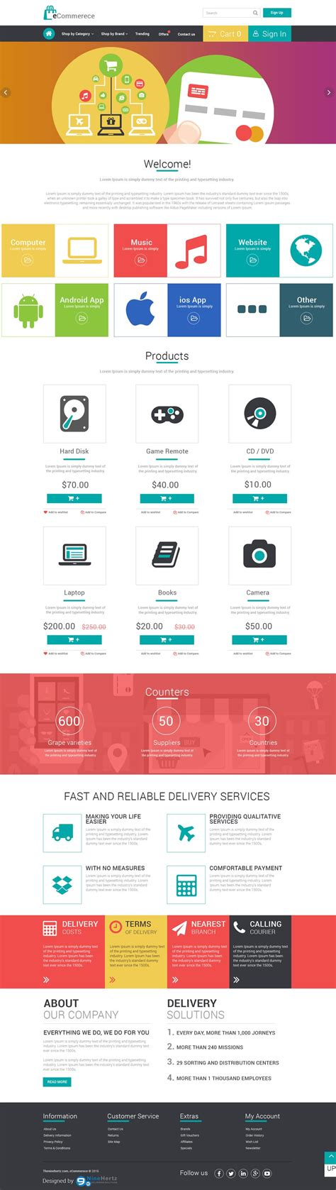 Free Ecommerce Web Templates Psd 187 Css Author Ecommerce P L Template