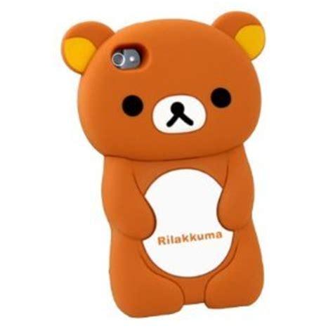 Rilakkuma Brown Iphone All Hp 3d brown rilakkuma silicon cover for iphone 4 4s
