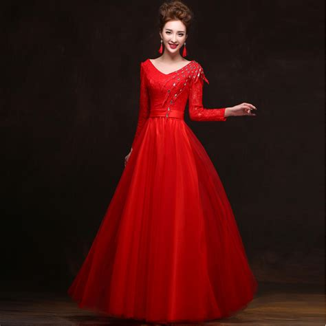 by my michelle lace long gown for prom women lace v neck long sleeves elegant sleeve formal tulle