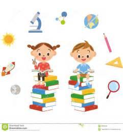 enfant qui lit de divers livres illustration de vecteur