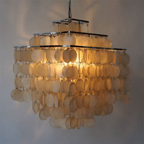 Capiz Shell Chandelier Lighting Capiz Shell Chandelier By Verner Panton At 1stdibs