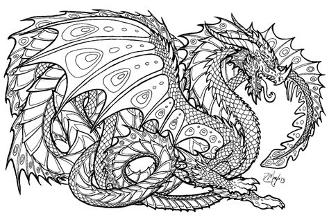 dragon coloring pages for adults 3335 of real we are all