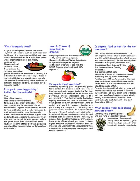 free food brochure templates food brochure template for faqs free