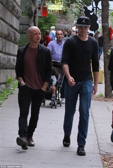 james mcavoy montreal james mcavoy enjoys day off with x men co star nicholas