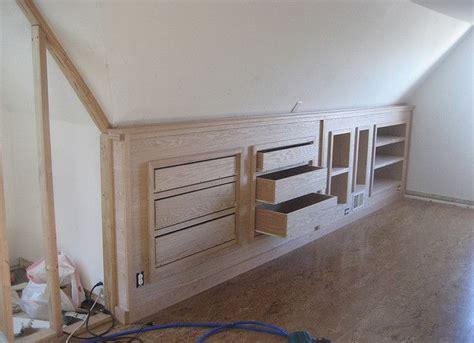 knee wall drawers knee wall