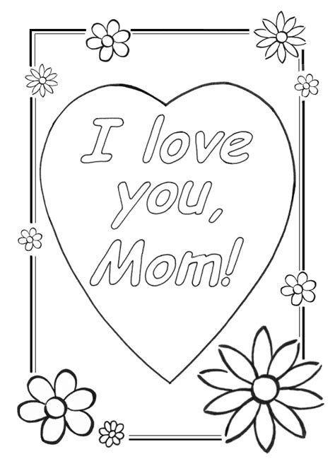 free that say i love you mom coloring pages