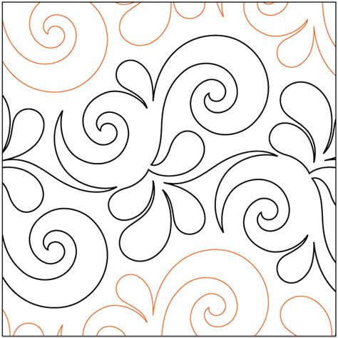 Pantograph Patterns For Longarm Quilting by Regular Pantograph Patterns