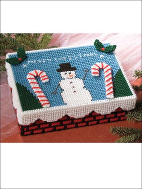 plastic canvas christmas christmas card box