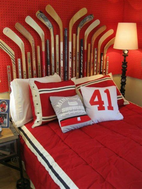 Hockey Themed Bedroom Hockey Theme Bedroom Baseball Hockey And Bike