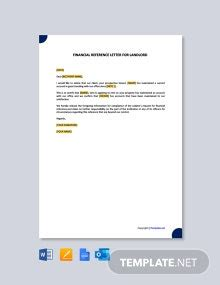 reference letter landlord employer template