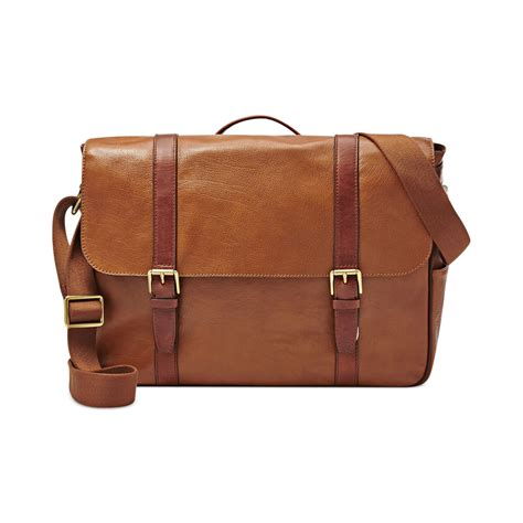 Fossil Estate Messenger Darkbrown Leather Tas Fossil Original Cro 28 lastest fossil messenger bag sobatapk