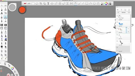 sketchbook ro autodesk sketchbook pro shoe sketch