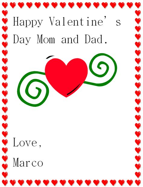 printable christmas cards for mom and dad happy valentines day mom printable cards infocard co