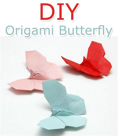 How To Make A Paper Origami Butterfly - how to make an origami butterfly tutorial