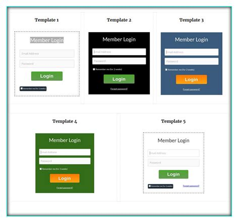 login template responsive image collections templates