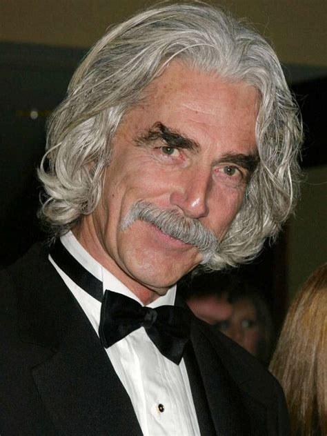 sam elliott long grey slickback hairstyle and handlebar mustache a weird looking guy with white hair played by francis x