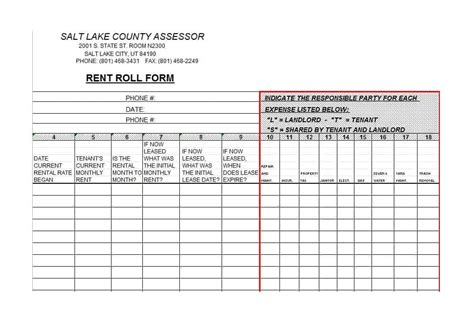 commercial rent roll template lovely commercial rent roll template contemporary the