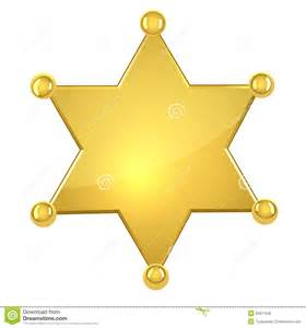 blank golden sheriff star royalty free stock photos