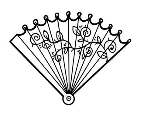 mobile hand fan coloring pages coloring coloring pages