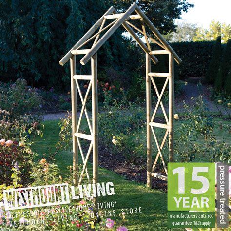 Wooden Garden Arch Ebay New Wooden Pressure Treated Garden Rustic Arch