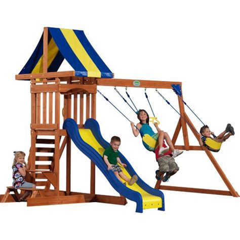 Backyard Discovery Providence Wooden Swing Set Academy