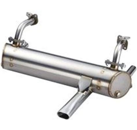 vintage speed stainless steel abarth style muffler single