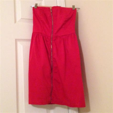 Zipper Zara Dress zara strapless dress with zipper in front from nana
