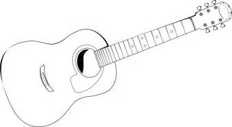 Guitar Clipart Outline by Acoustic Guitar Clip At Clker Vector Clip Royalty Free Domain