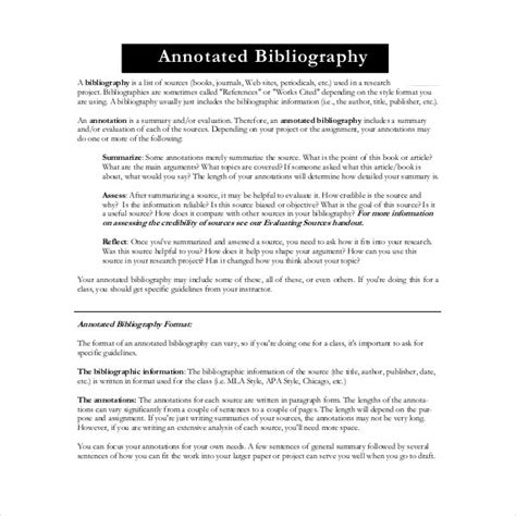 Annotated Bibliography Generator Template 16 Exles In Pdf Word Free Premium Templates Free Bibliography Template
