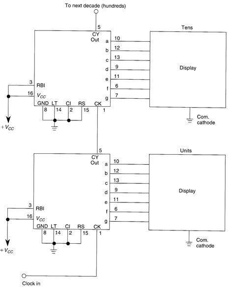 led common cathode circuit 4033 display circuitry common cathode led and light circuit circuit diagram seekic