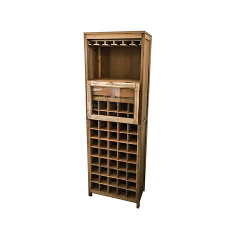 Reclaimed Wood Wine Rack. Solid, handmade reclaimed teak.