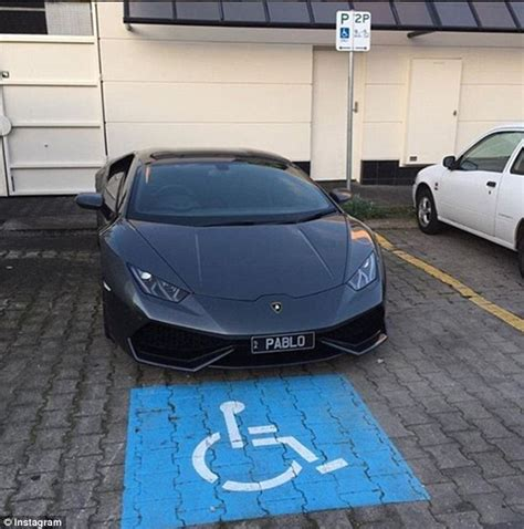 lamborghini parked lamborghini driver causing carpark chaos is said to be