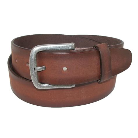 mens burnished leather removable buckle bridle belt by ctm