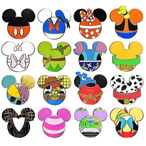 disney mystery pin set mickey mouse icon 5 random