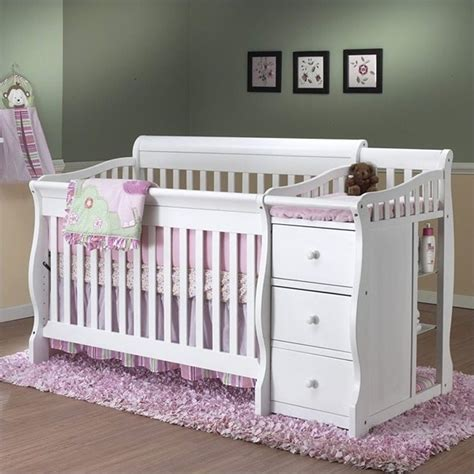 Sorelle Tuscany 4 In 1 Convertible Crib And Changer Combo Crib That Turns Into Bed