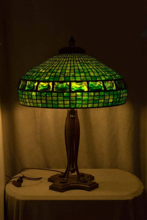 tiffany studios turtle  tile table lamp  stdibs