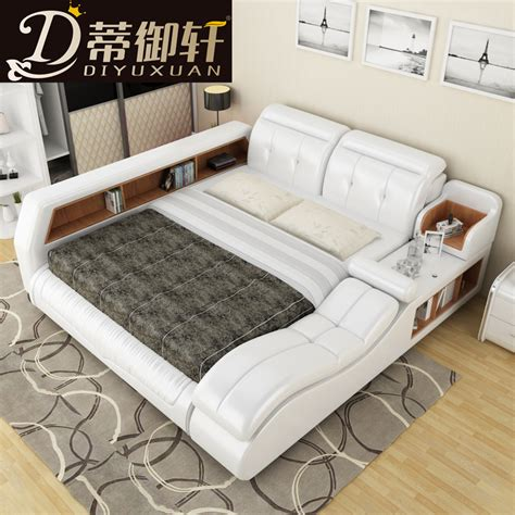 Tatami Bett by Ti Yu Xuan Tatami Bed Smart Leather Bed Bed 1 8 M