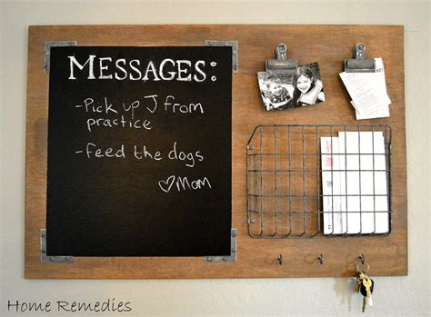 Message Board diy industrial style message board